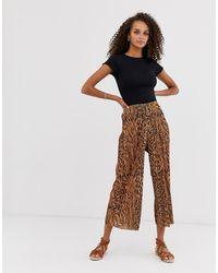 ASOS Jupe-culotte plissée à imprimé animal mélangé - Multicolore