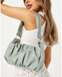 ASOS Ruched 70s Shoulder Bag - Green