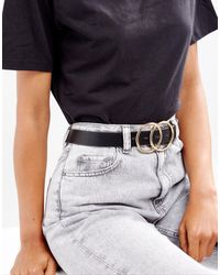 ASOS Double Circle Waist & Hip Belt - Black