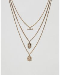 ASOS - Collier multi-rang vintage avec pendentifs St Christophe - Lyst