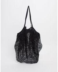 ASOS String Tote Bag - Black