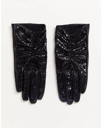 ASOS – Touchscreen-Handschuhe aus Vinyl - Schwarz
