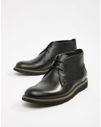 Original Penguin - Черные Кожаные Ботинки Со Шнуровкой -черный - Lyst