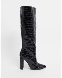 Steve Madden Tamsin Heeled Knee-high Boot - Black