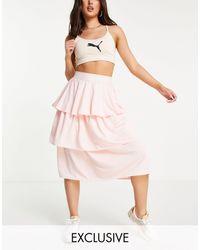 PUMA Queen Frill Tiered Skirt - Pink