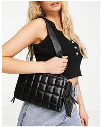 Call It Spring By Aldo Vegan Duo Two Part Quilted Cross Body Bag - Black