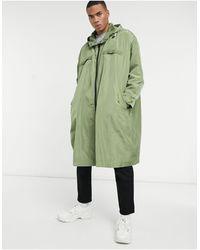 ASOS Oversized Parka Jacket - Green