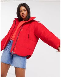 Lee Jeans Lee Puffer Jacket - Red