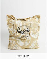 Herschel Supply Co. Esclusiva - Borsa shopping tie-dye candeggiato - Nero