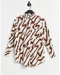 Glamorous Oversized Shirt - Multicolour