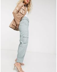 & Other Stories Belted Tapered Utility Trousers - Green