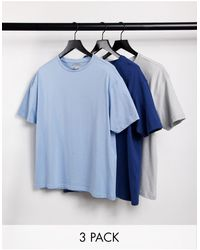 Another Influence 3-pack Boxy Fit T-shirt - Blue