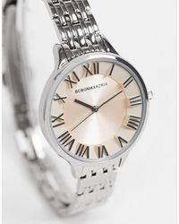 BCBGMAXAZRIA - Часы-браслет С Розовым Циферблатом -серебристый - Lyst