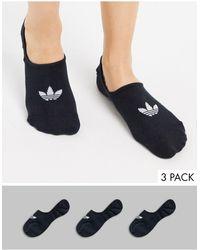 adidas Originals 3 Pack No Show Socks - Blue