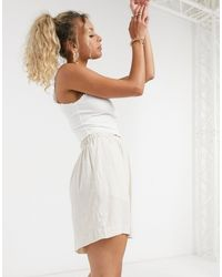 Weekday Tica Pull On Shorts - Natural