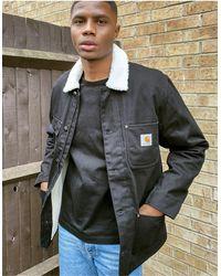 Carhartt WIP Черная Куртка На Подкладке Из Искусственного Меха Fairmount-черный