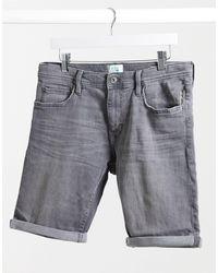 Esprit - Short slim en jean - délavé - Lyst