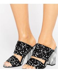 The March - Strappy Heeled Mules - Lyst