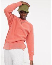 Champion Reverse Weave - Sweat-shirt - délavé à l'acide - Orange
