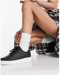Truffle Collection Wide Fit Chunky Flatform Trainers - Black