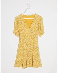 Abercrombie & Fitch Button Through Dress - Yellow