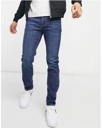 Lee Jeans Rider - Jeans slim westwater scuro - Blu