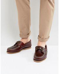 Timberland Náuticos clásicos de cuero en marrón