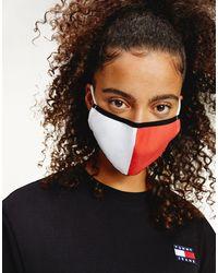 Tommy Hilfiger – Unisex-Mund-Nasenschutz mit Flaggenlogo - Mehrfarbig