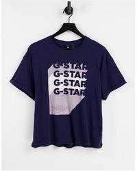 G-Star RAW – T-Shirt - Blau