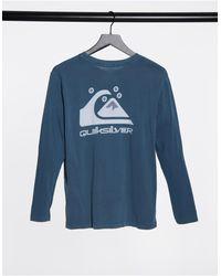 Quiksilver Standard Long Sleeve T-shirt - Blue