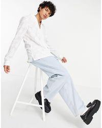 ASOS Regular Fit Shawl Collar Shirt - White