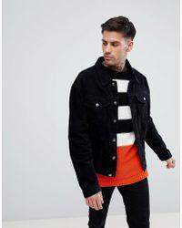 Boohoo - Corduroy Jacket In Black - Lyst