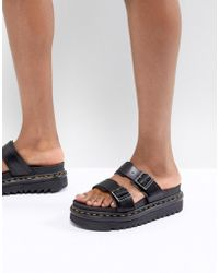 Dr. Martens - Myles Two Strap Flat Sandals - Lyst
