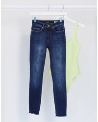 ONLY Blush Mid Waist Skinny Jeans - Blue