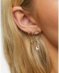 Glamorous Boucles d'oreilles en forme - Métallisé