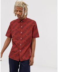 Noak – Hemd mit aufgesetzten Taschen - Rot