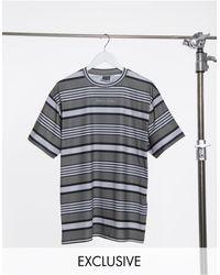Reclaimed (vintage) - – Inspired – Enges T-Shirt mit Streifen - Lyst