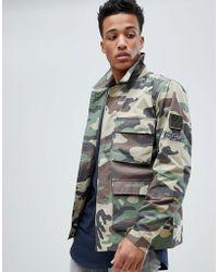 Jack & Jones - Originals Camo Field Jacket With Badge Detail - Lyst