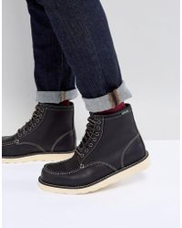Eastland - Lumber Up Leather Boots In Black - Lyst