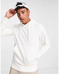 SELECTED Hoodie en coton biologique avec poche avant - Blanc