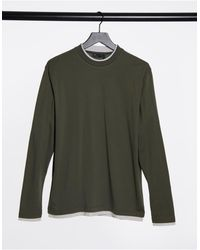 ASOS Camiseta caqui desgastado holgada - Verde