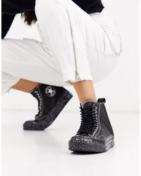 Converse Black Chuck 70 Hi Speckled Double Eyelet Sneakers