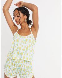 Adolescent Clothing Пижамный Комплект С Майкой С Принтом -желтый