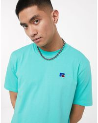 Russell Athletic Baseliner T-shirt With Chest Logo - Blue