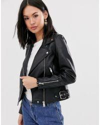 Pimkie Double Zip Biker Jacket In Black