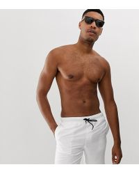 ASOS Short de bain mi-long - Blanc