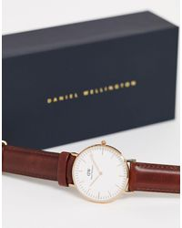 Daniel Wellington Classic St Mawes - Montre 36 mm - et or rose - Marron