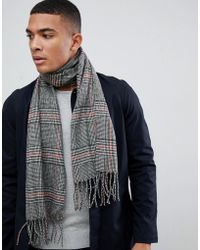 New Look - Scarf In Black Check - Lyst