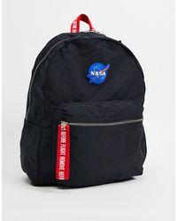 Pull&Bear Nasa Backpack - Black