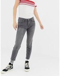Lee Jeans - Lee Scarlett Mid Rise Raw Hem Skinny Jeans - Lyst
